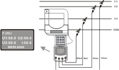 Power Meter for Caliber with 3 Phase (High Precision)