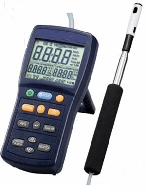 Anemometer with Telescoping Probe (Data Memory)